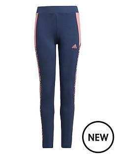 adidas-girls-leo-tights-navypink
