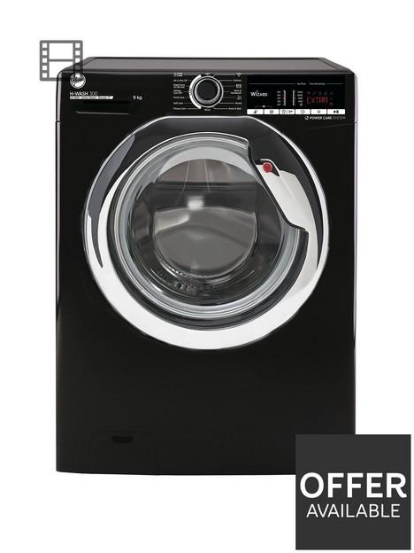 hoover-h-wash-300-h3ws495tacbe1-80nbsp9kg-load-1400-spin-washing-machine-black