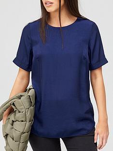 v-by-very-premium-woven-t-shirt-navy