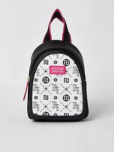 river-island-girls-ri-logo-mini-backpack-white