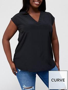 v-by-very-curve-notch-neck-sleeveless-blouse-black