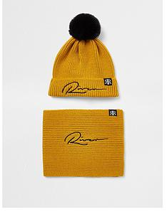 river-island-boys-hat-and-snood-set--nbspyellow