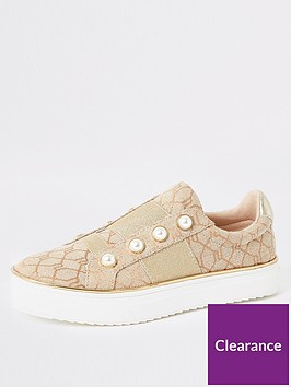 river-island-girls-jacquard-slip-on-trainers--nbsppink
