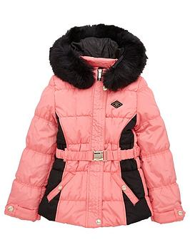 river-island-older-girlsnbspruched-blocked-padded-jacket-bright-pink