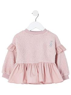 river-island-mini-girls-teddy-peplum-sweat--nbsppink
