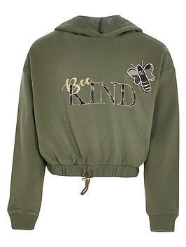river-island-girls-be-kind-hoodie-khaki