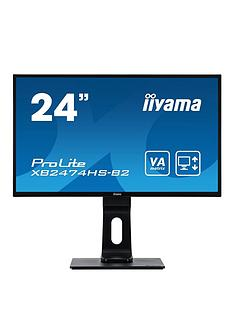iiyama-prolite-xb2474hs-b2-24-va-full-hd-black-hdmi-display-port-height-adjustable