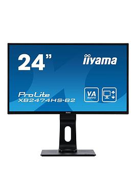 iiyama-prolite-xb2474hs-b2-24-va-full-hd-black-hdmi-display-port-height-adjustable