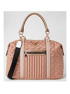 river-island-zip-front-quilted-weekend-bag