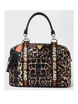 river-island-leopard-quilted-holdall