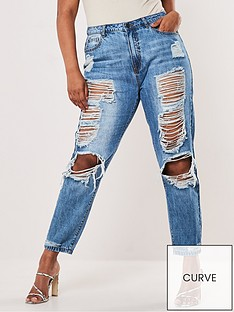 missguided-plus-missguided-plus-riot-distressed-mom-jeans-bluenbspstone-wash