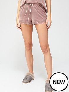 hunkemoller-velour-lace-trim-shortsnbsp--mauve