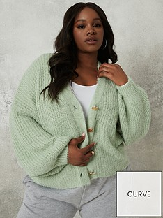 missguided-plus-missguided-plus-fluffy-textured-cardigan-mint