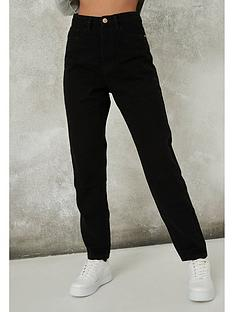 missguided-missguided-riot-mom-jeans-black
