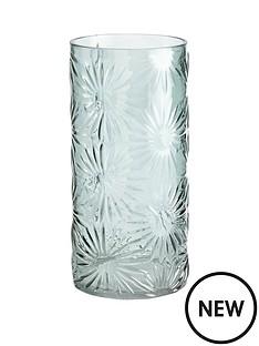 gisela-graham-green-daisy-glass-vase