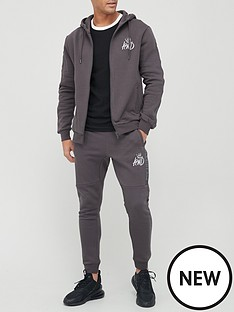kings-will-dream-crosslynbspzip-through-hoodie-tracksuit-greynbsp