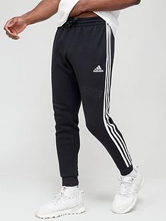 adidas-3-stripe-fleece-pants-black