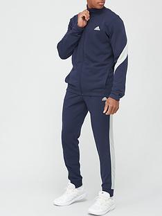 adidas-cotton-tracksuit-navywhite