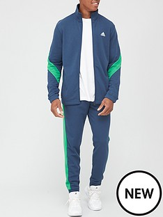 adidas-cotton-tracksuit-navygreen