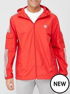 adidas-originals-3-stripes-full-zip-windbreakernbsp--red
