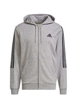 adidas-cut-3-stripe-full-zip-hoodie-medium-grey-heather