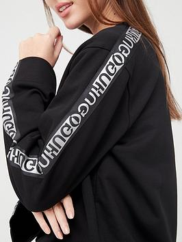 hugo-taped-sleeve-sweater-black