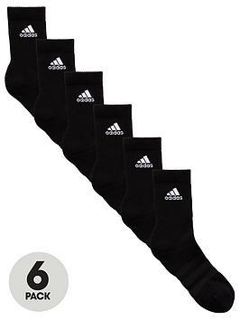 adidas-6-pack-ofnbspcushion-crew-socks-black