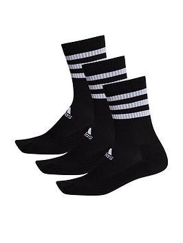 adidas-adidas-3-stripe-cushion-crew-3-pack-black