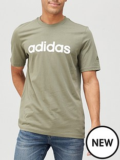adidas-linear-logo-t-shirt-green