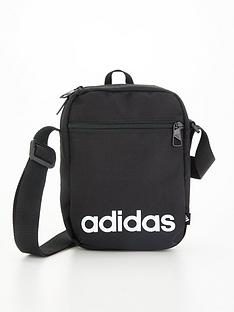 adidas-linear-logo-bag-blacknbsp