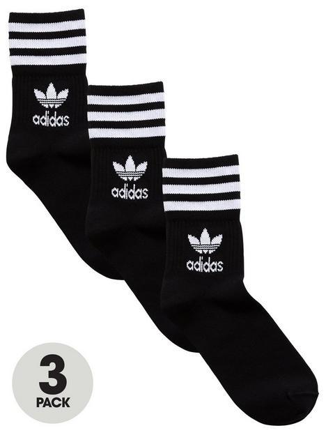 adidas-originals-3-pack-ofnbspmid-cut-crew-socks-black