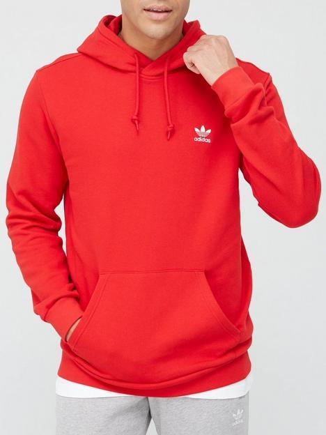 adidas-originals-essentialsnbsphoodie-red
