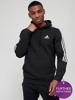 adidas-cut-3-stripe-hoodie-blackwhite