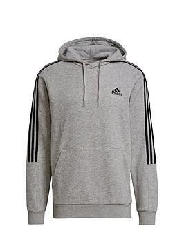 adidas-adidas-cut-3-stripe-hoody-medium-grey-heather