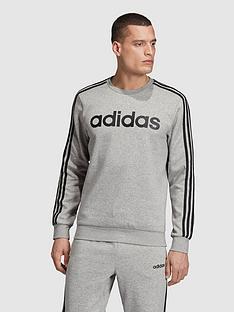 adidas-essential-3-stripe-crew-sweat