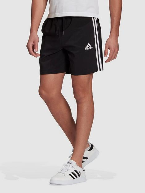 adidas-3-stripe-chelsea-shorts-black