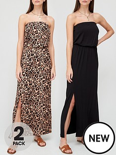 v-by-very-2-pack-bandeau-maxi-dress-blackanimal