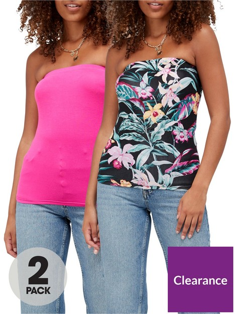 v-by-very-boobtube-2-pack-tropicalpink