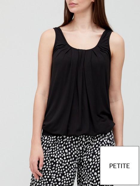 v-by-very-petite-bubble-hem-scoop-neck-vest-black