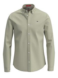 tommy-jeans-lightweight-twill-shirt-light-green