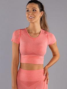 boux-avenue-two-tone-marl-short-sleeve-crop-top-coral
