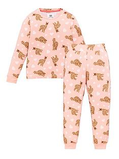 chelsea-peers-girls-alpacanbspprint-pyjamas-pink