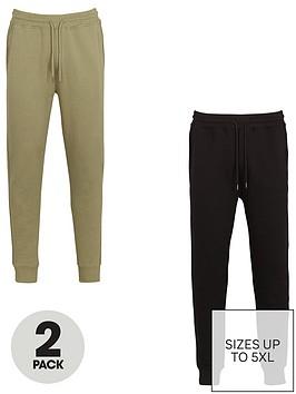 very-man-essential-jogger-2-pack-khakiblacknbsp