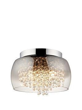 Product photograph showing Alyssum Droplet Flush Ceiling Light