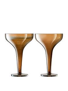lsa-international-epoque-amber-lustre-champagne-saucers-ndash-set-of-2