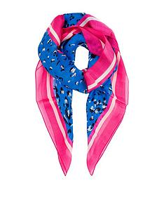 monsoon-animal-print-silk-square-scarf-blue