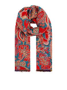 monsoon-paisley-jacquard-bright-blanket-scarf-red