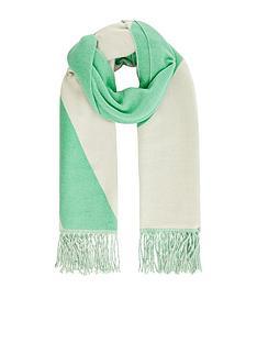 monsoon-colour-block-blanket-scarf-mint