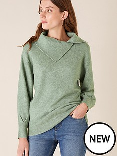 monsoon-split-neck-jumper-green