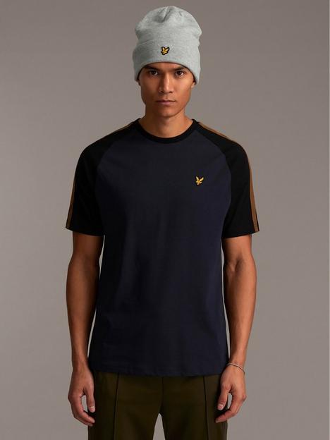 lyle-scott-panel-detail-t-shirt-dark-navy
